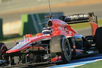 World © Octane Photographic Ltd. Formula 1 Winter testing, Jerez, 7th February 2013. Marussia MR02, Max Chilton. Digital Ref: 0573lw1d9036