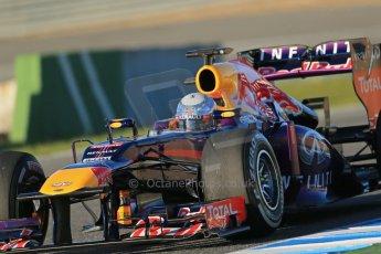 World © Octane Photographic Ltd. Formula 1 Winter testing, Jerez, 7th February 2013. Infiniti Red Bull Racing RB9, Sebastian Vettel. Digital Ref: 0573lw1d9139