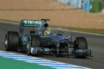 World © Octane Photographic Ltd. Formula 1 Winter testing, Jerez, 7th February 2013. Mercedes AMG Petronas F1 W04, Nico Rosberg. Digital Ref: 0573lw1d9530