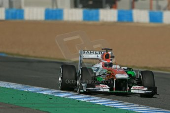 World © Octane Photographic Ltd. Formula 1 Winter testing, Jerez, 7th February 2013, morning sessions. Sahara Force India VJM06 – Paul di Resta. Digital Ref: 0573lw1d9578