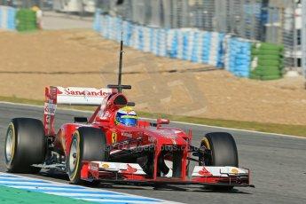 World © Octane Photographic Ltd. Formula 1 Winter testing, Jerez, 7th February 2013. Ferrari F138 – Felipe Massa. Digital Ref: 0573lw1d9595