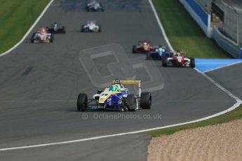World © Octane Photographic Ltd. BRDC Formula 4 (F4) Race 1, Donington Park 28th September 2013. MSVF4-13, HHC Motorsport, Gustavo Lima. Digital Ref : 0833lw1d9663