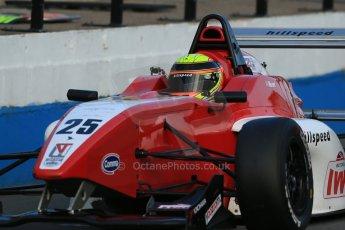 World © Octane Photographic Ltd. BRDC Formula 4 (F4) Race 1, Donington Park 28th September 2013. MSVF4-13, Hillspeed, Struan Moore. Digital Ref : 0833lw1d9875