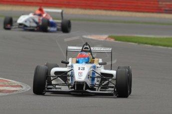 World © Octane Photographic Ltd. BRDC Formula 4 (F4) Championship Silverstone, April 27th 2013. MSV F4-013, Mark Goodwin Racing, Diego Menchaca.  Digital Ref : 0642lw7d7092