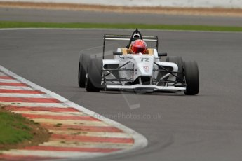 World © Octane Photographic Ltd. BRDC Formula 4 (F4) Championship, Silverstone, April 27th 2013. MSV F4-013, Hillspeed, Rahul Raj Mayer. Digital Ref : 0642lw7d7246