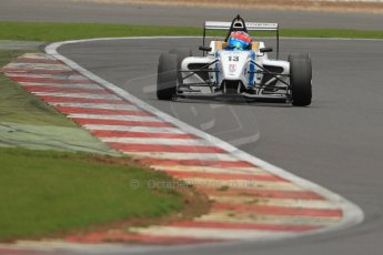 World © Octane Photographic Ltd. BRDC Formula 4 (F4) Championship Silverstone, April 27th 2013. MSV F4-013, Mark Goodwin Racing, Diego Menchaca.  Digital Ref : 0642lw7d7260