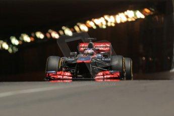 World © 2013 Octane Photographic Ltd. F1 Monaco GP, Monte Carlo - Thursday 23rd May 2013 - Practice 2. Vodafone McLaren Mercedes MP4/28 - Jenson Button. Digital Ref : 0694lw1d7678