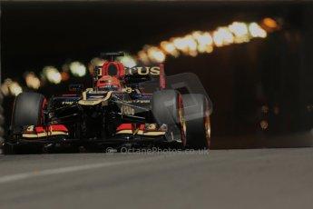 World © 2013 Octane Photographic Ltd. F1 Monaco GP, Monte Carlo -Thursday 23rd May 2013 - Practice 2. Lotus F1 Team E21 - Kimi Raikkonen. Digital Ref : 0694lw1d7862