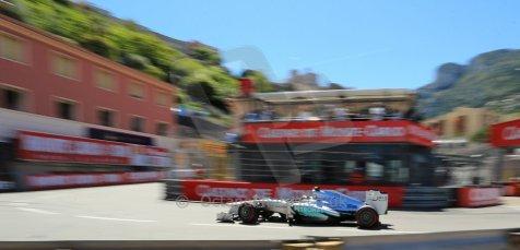 World © 2013 Octane Photographic Ltd. F1 Monaco GP, Monte Carlo -Thursday 23rd May 2013 - Practice 2. Mercedes AMG Petronas F1 W04 – Lewis Hamilton. Digital Ref : 0694lw1d8047