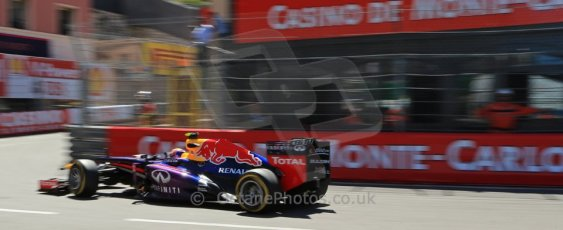 World © 2013 Octane Photographic Ltd. F1 Monaco GP, Monte Carlo -Thursday 23rd May 2013 - Practice 2. Infiniti Red Bull Racing RB9 - Mark Webber. Digital Ref : 0694lw1d8117