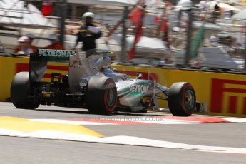 World © 2013 Octane Photographic Ltd. F1 Monaco GP, Monte Carlo -Thursday 23rd May 2013 - Practice 2. Mercedes AMG Petronas F1 W04 – Lewis Hamilton. Digital Ref : 0694lw7d7762