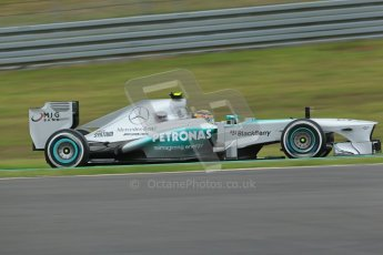 World © Octane Photographic Ltd. F1 German GP - Nurburgring. Friday 5th July 2013 - Practice One. Mercedes AMG Petronas F1 W04 – Lewis Hamilton. Digital Ref : 0739lw1d3218