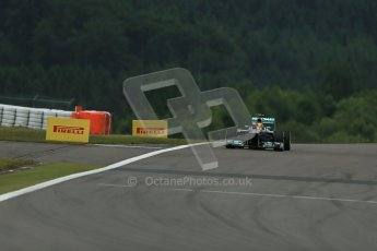 World © Octane Photographic Ltd. F1 German GP - Nurburgring. Friday 5th July 2013 - Practice One. Mercedes AMG Petronas F1 W04 – Lewis Hamilton. Digital Ref : 0739lw1d3342