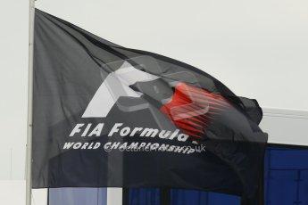 World © Octane Photographic Ltd. F1 German GP - Nurburgring. Friday 5th July 2013 - Practice Two. Formula One Flag. Digital Ref : 0741lw1d3516