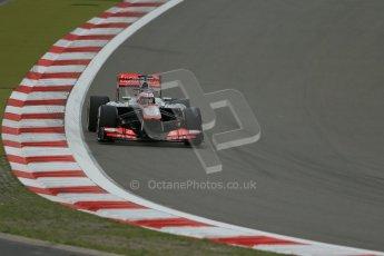 World © Octane Photographic Ltd. F1 German GP - Nurburgring. Friday 5th July 2013 - Practice Two. Vodafone McLaren Mercedes MP4/28 - Jenson Button. Digital Ref : 0741lw1d4258