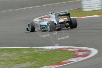 World © Octane Photographic Ltd. F1 German GP - Nurburgring. Friday 5th July 2013 - Practice two. Mercedes AMG Petronas F1 W04 – Lewis Hamilton. Digital Ref : 0741lw1d4390