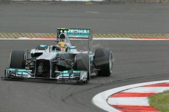 World © Octane Photographic Ltd. F1 German GP - Nurburgring. Friday 5th July 2013 - Practice two. Mercedes AMG Petronas F1 W04 – Lewis Hamilton. Digital Ref : 0741lw1d4543