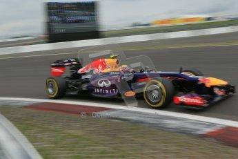 World © Octane Photographic Ltd. F1 German GP - Nurburgring. Friday 5th July 2013 - Practice two. Infiniti Red Bull Racing RB9 - Mark Webber. Digital Ref : 0741lw1d4834
