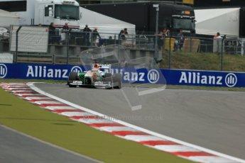 World © Octane Photographic Ltd. F1 German GP - Nurburgring. Friday 5th July 2013 - Practice two. Sahara Force India VJM06 - Paul di Resta. Digital Ref : 0741lw1d4881