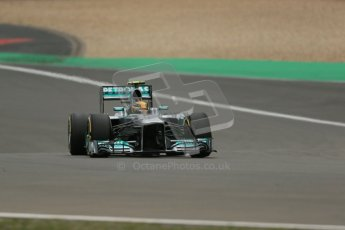 World © Octane Photographic Ltd. F1 German GP - Nurburgring. Friday 5th July 2013 - Practice two. Mercedes AMG Petronas F1 W04 – Lewis Hamilton. Digital Ref : 0741lw1d4941