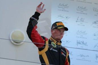 World © Octane Photographic Ltd. F1 German GP - Nurburgring. Sunday 7th July 2013 - Podium. Lotus F1 Team - Kimi Raikkonen. Digital Ref : 0750au8i0287