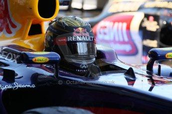 World © Octane Photographic Ltd. F1 German GP - Nurburgring. Sunday 7th July 2013 - Parc Ferme. Infiniti Red Bull Racing RB9 - Sebastian Vettel. Digital Ref : 0750lw1d5325