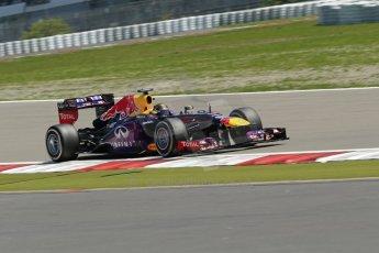 World © Octane Photographic Ltd. F1 German GP - Nurburgring. Sunday 7th July 2013 - Race. Infiniti Red Bull Racing RB9 - Sebastian Vettel. Digital Ref : 0749lw1d9935