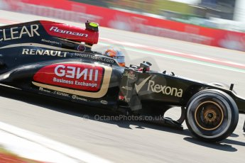 World © Octane Photographic Ltd. F1 German GP - Nurburgring. Sunday 7th July 2013 - Race. Lotus F1 Team E21 - Romain Grosjean. Digital Ref : 0749lw1dx0029