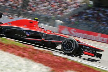 World © Octane Photographic Ltd. F1 German GP - Nurburgring. Sunday 7th July 2013 - Race. Marussia F1 Team MR02 - Max Chilton. Digital Ref : 0749lw1dx0113