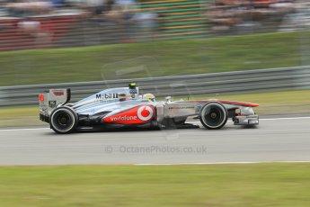 World © Octane Photographic Ltd. F1 German GP - Nurburgring. Saturday 6th July 2013 - Practice three. Vodafone McLaren Mercedes MP4/28 - Sergio Perez . Digital Ref : 0744lw1d3967