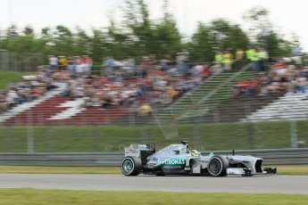 World © Octane Photographic Ltd. F1 German GP - Nurburgring. Saturday 6th July 2013 - Practice three. Mercedes AMG Petronas F1 W04 - Nico Rosberg. Digital Ref : 0744lw1d4050