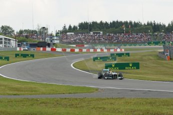 World © Octane Photographic Ltd. F1 German GP - Nurburgring. Saturday 6th July 2013 - Practice three. Mercedes AMG Petronas F1 W04 – Lewis Hamilton. Digital Ref : 0744lw1d4083