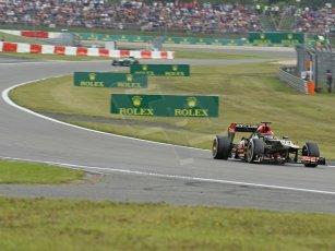 World © Octane Photographic Ltd. F1 German GP - Nurburgring. Saturday 6th July 2013 - Practice three. Lotus F1 Team E21 - Kimi Raikkonen. Digital Ref : 0744lw1d4100