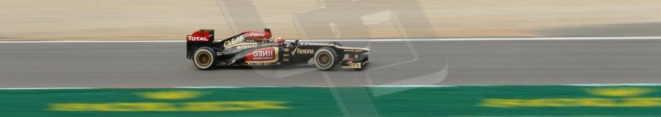 World © Octane Photographic Ltd. F1 German GP - Nurburgring. Saturday 6th July 2013 - Practice three. Lotus F1 Team E21 - Kimi Raikkonen. Digital Ref : 0744lw1d4173