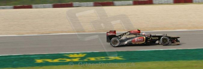 World © Octane Photographic Ltd. F1 German GP - Nurburgring. Saturday 6th July 2013 - Practice three. Lotus F1 Team E21 - Romain Grosjean. Digital Ref : 0744lw1d4243