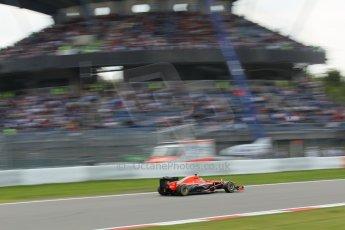 World © Octane Photographic Ltd. F1 German GP - Nurburgring. Saturday 6th July 2013 - Practice three. Marussia F1 Team MR02 - Max Chilton. Digital Ref : 0744lw1d4296