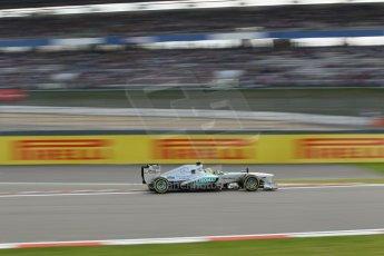 World © Octane Photographic Ltd. F1 German GP - Nurburgring. Saturday 6th July 2013 - Practice three. Mercedes AMG Petronas F1 W04 - Nico Rosberg. Digital Ref : 0744lw1d4300
