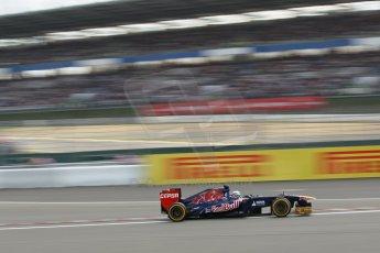 World © Octane Photographic Ltd. F1 German GP - Nurburgring. Saturday 6th July 2013 - Practice three. Scuderia Toro Rosso STR8 - Jean-Eric Vergne. Digital Ref : 0744lw1d4325