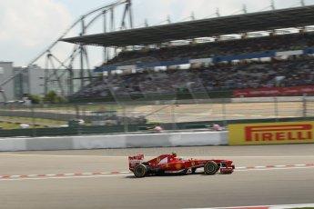World © Octane Photographic Ltd. F1 German GP - Nurburgring. Saturday 6th July 2013 - Practice three. Scuderia Ferrari F138 - Felipe Massa. Digital Ref : 0744lw1d4358