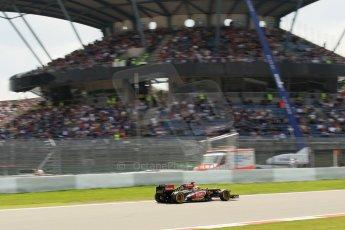 World © Octane Photographic Ltd. F1 German GP - Nurburgring. Saturday 6th July 2013 - Practice three. Lotus F1 Team E21 - Kimi Raikkonen. Digital Ref : 0744lw1d4389