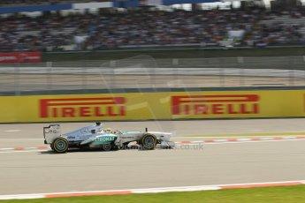 World © Octane Photographic Ltd. F1 German GP - Nurburgring. Saturday 6th July 2013 - Practice three. Mercedes AMG Petronas F1 W04 - Nico Rosberg. Digital Ref : 0744lw1d4429