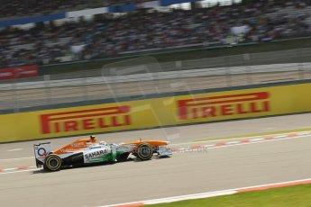 World © Octane Photographic Ltd. F1 German GP - Nurburgring. Saturday 6th July 2013 - Practice three. Sahara Force India VJM06 - Adrian Sutil. Digital Ref : 0744lw1d4445