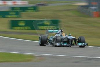 World © Octane Photographic Ltd. F1 German GP - Nurburgring. Saturday 6th July 2013 - Practice three. Mercedes AMG Petronas F1 W04 – Lewis Hamilton. Digital Ref : 0744lw1d6059