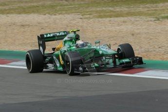 World © Octane Photographic Ltd. F1 German GP - Nurburgring. Saturday 6th July 2013 - Practice three. Caterham F1 Team CT03 - Giedo van der Garde. Digital Ref : 0744lw1d6355