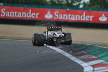 World © Octane Photographic Ltd. F1 German GP - Nurburgring. Saturday 6th July 2013 - Practice three. Lotus F1 Team E21 - Kimi Raikkonen. Digital Ref : 0744lw1d6442