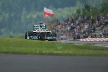 World © Octane Photographic Ltd. F1 German GP - Nurburgring. Saturday 6th July 2013 - Practice three. Mercedes AMG Petronas F1 W04 - Nico Rosberg. Digital Ref : 0744lw1d6675