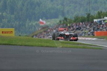 World © Octane Photographic Ltd. F1 German GP - Nurburgring. Saturday 6th July 2013 - Practice three. Vodafone McLaren Mercedes MP4/28 - Jenson Button. Digital Ref : 0744lw1d6718