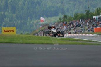 World © Octane Photographic Ltd. F1 German GP - Nurburgring. Saturday 6th July 2013 - Practice three. Lotus F1 Team E21 - Romain Grosjean. Digital Ref : 0744lw1d6733