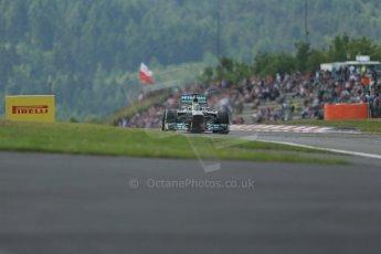 World © Octane Photographic Ltd. F1 German GP - Nurburgring. Saturday 6th July 2013 - Practice three. Mercedes AMG Petronas F1 W04 - Nico Rosberg. Digital Ref : 0744lw1d6769