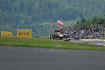 World © Octane Photographic Ltd. F1 German GP - Nurburgring. Saturday 6th July 2013 - Practice three. Infiniti Red Bull Racing RB9 - Mark Webber. Digital Ref : 0744lw1d6779